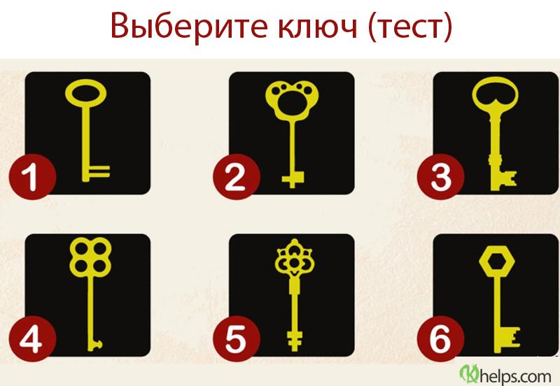 Подберите ключ к своей личности (тест)